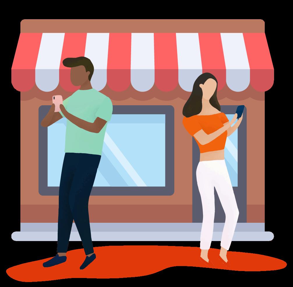 E-Commerce - Kobieta i mężczyzna